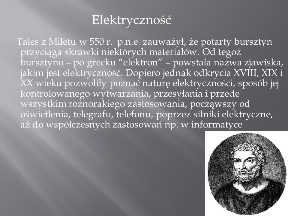 Tales z Miletu w 550 r.p.n.e.