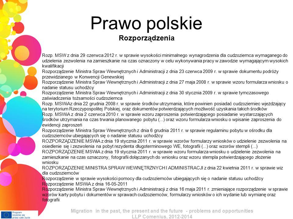 Prawo polskie Rozporządzenia Rozp. MSW z dnia 29 czerwca 2012 r.
