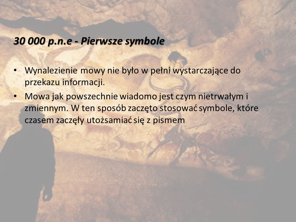 3300 p.n.e.– Pismo Pismo – system umownych znaków, za pomocą których można utrwalić język.