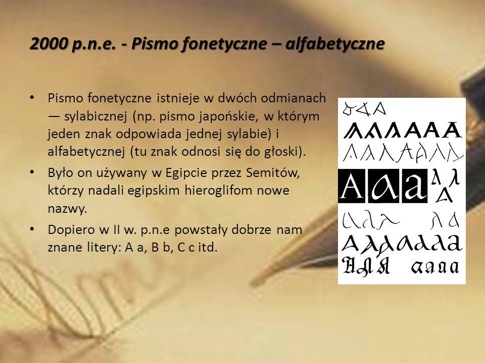 Pismo fonetyczne istnieje w dwóch odmianach ― sylabicznej (np. pismo japońskie, w którym jeden znak odpowiada jednej sylabie) i alfabetycznej (tu znak