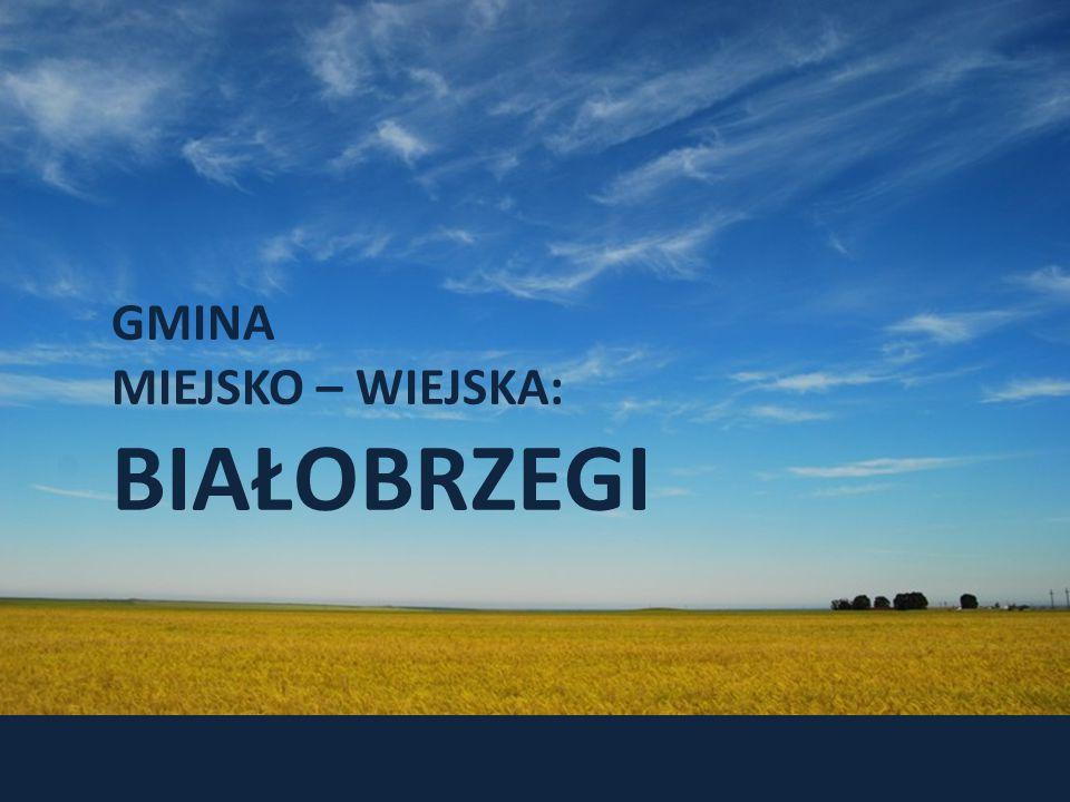 GMINA MIEJSKO – WIEJSKA: BIAŁOBRZEGI Historia gminy sięga roku 1540 W ciągu pierwszych czterystu lat istnienia Białobrzegi są niewielkim miasteczkiem,którego ludność zajmuje się głównie handlem oraz rolnictwem Okres międzywojenny przełomem w rozwoju gminy HISTORIA