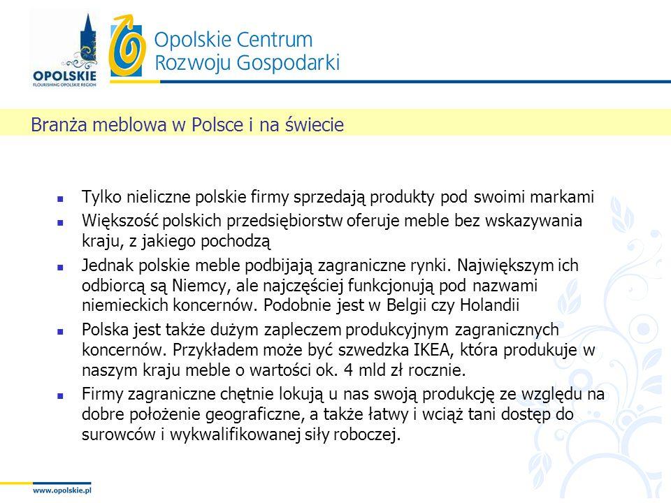 Tylko nieliczne polskie firmy sprzedają produkty pod swoimi markami Większość polskich przedsiębiorstw oferuje meble bez wskazywania kraju, z jakiego