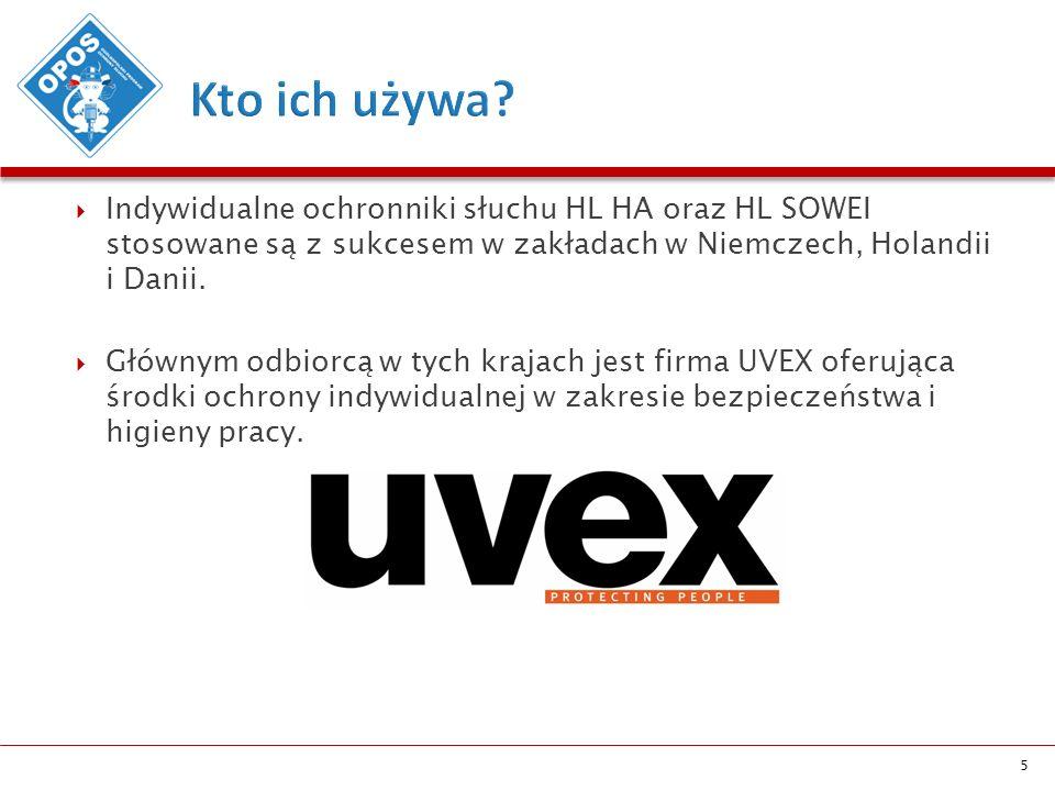  Indywidualne ochronniki słuchu HL HA oraz HL SOWEI stosowane są z sukcesem w zakładach w Niemczech, Holandii i Danii.