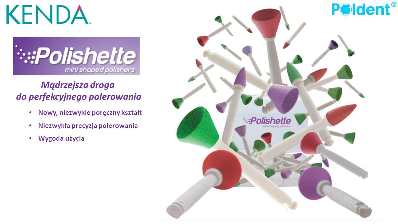 W systemie Polishette specjalnie zaprojektowany trzonek z plastiku solidny jest trwały i nie zagina się.