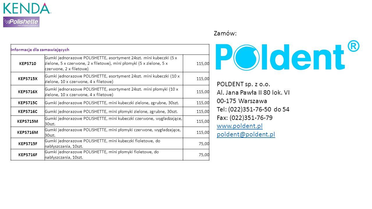 Informacje dla zamawiających KEPS710 Gumki jednorazowe POLISHETTE, asortyment 24szt. mini kubeczki (5 x zielone, 5 x czerwone, 2 x filetowe), mini pło