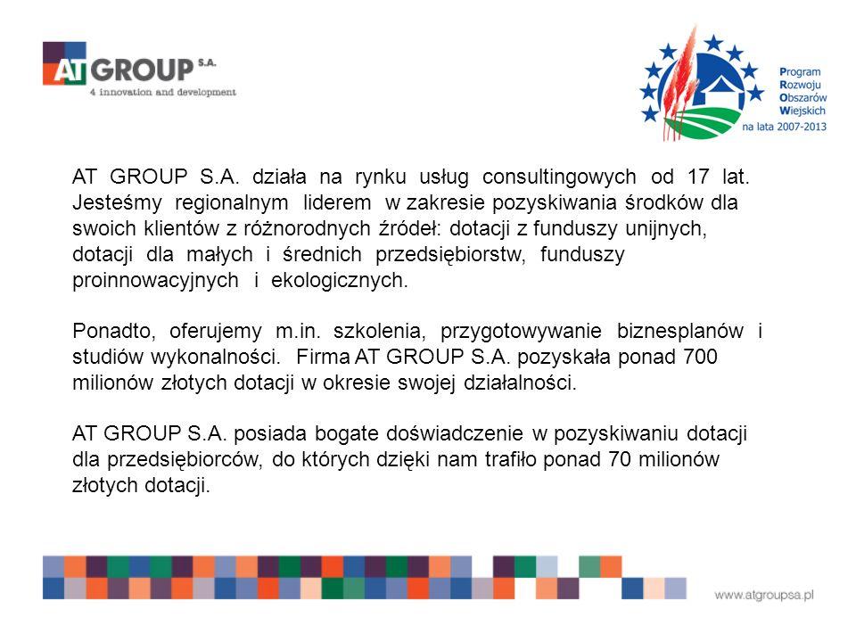 AT GROUP S.A. działa na rynku usług consultingowych od 17 lat.