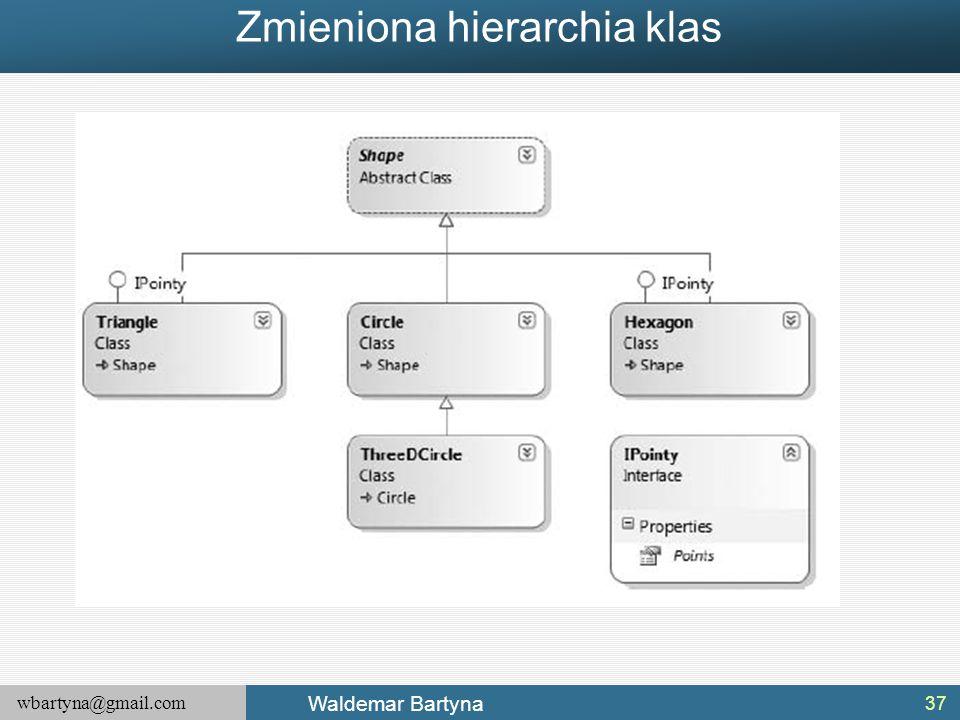 wbartyna@gmail.com Waldemar Bartyna Zmieniona hierarchia klas 37