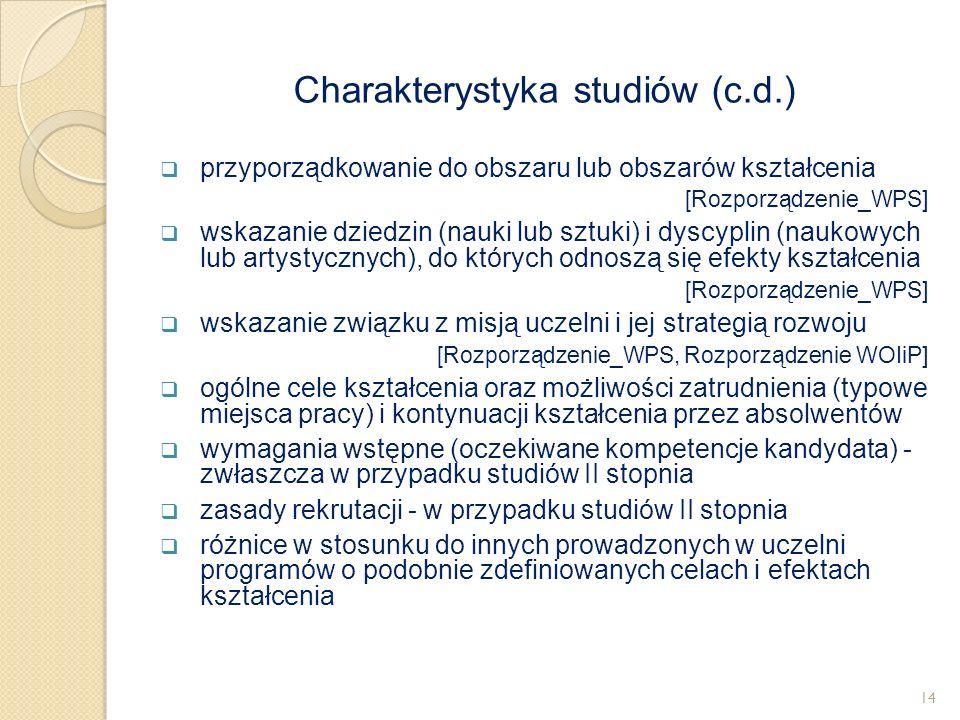  przyporządkowanie do obszaru lub obszarów kształcenia [Rozporządzenie_WPS]  wskazanie dziedzin (nauki lub sztuki) i dyscyplin (naukowych lub artyst