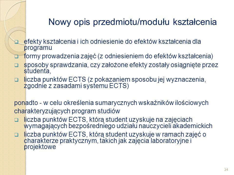  efekty kształcenia i ich odniesienie do efektów kształcenia dla programu  formy prowadzenia zajęć (z odniesieniem do efektów kształcenia)  sposoby