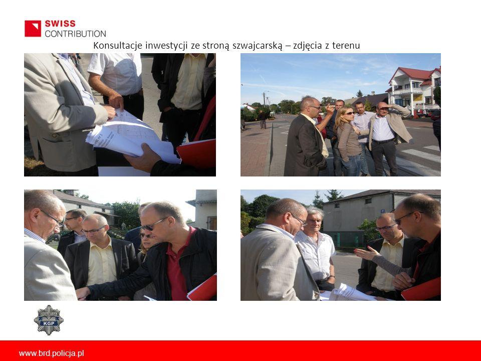 www.brd.policja.pl Konsultacje inwestycji ze stroną szwajcarską – zdjęcia z terenu