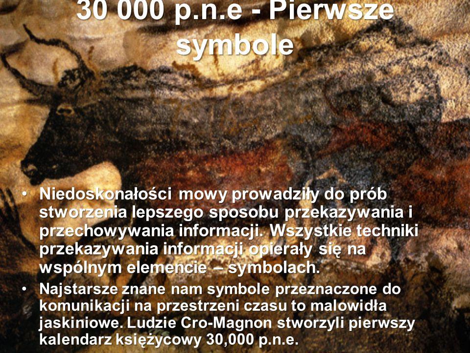 10 000 p.n.e – Petroglify Podczas gdy najstarsze malowidła naskalne, rzeźby, narzędzia możemy datować na okres późnego paleolitu (ok.