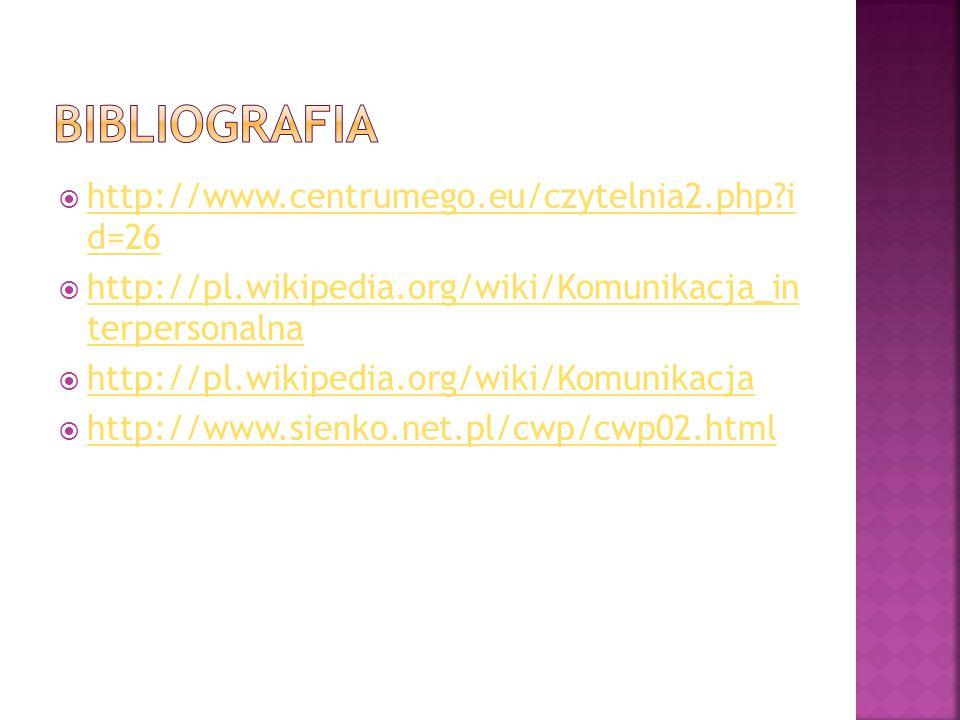  http://www.centrumego.eu/czytelnia2.php?i d=26 http://www.centrumego.eu/czytelnia2.php?i d=26  http://pl.wikipedia.org/wiki/Komunikacja_in terperso
