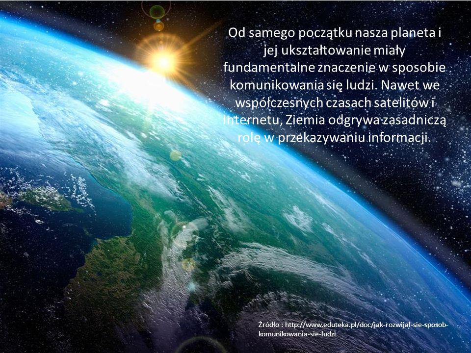 Od samego początku nasza planeta i jej ukształtowanie miały fundamentalne znaczenie w sposobie komunikowania się ludzi. Nawet we współczesnych czasach