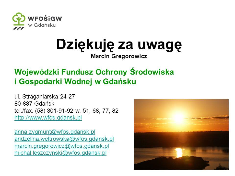 20 Wojewódzki Fundusz Ochrony Środowiska i Gospodarki Wodnej w Gdańsku ul.
