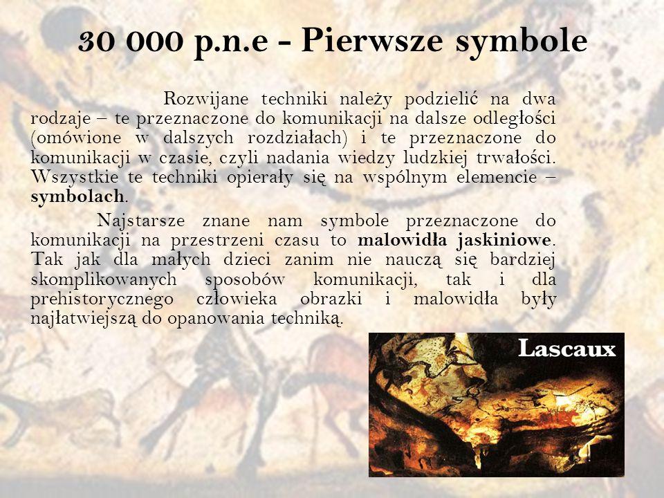 3300 p.n.e.- Pismo Symbole by ł y prekursorem kolejnego wielkiego wynalazku – pisma.