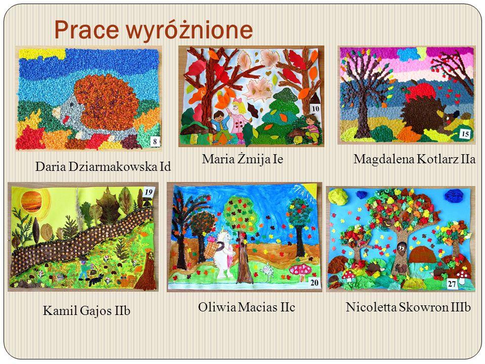 Prace nagrodzone Natalia Jungiewicz IVbAleksandra Juszczyk IVd Alicja Rzepka VIc Natalia Chmielowiec Va