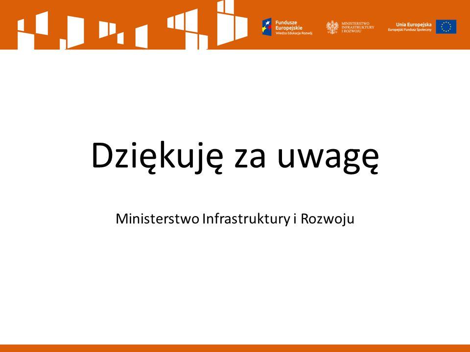Dziękuję za uwagę Ministerstwo Infrastruktury i Rozwoju