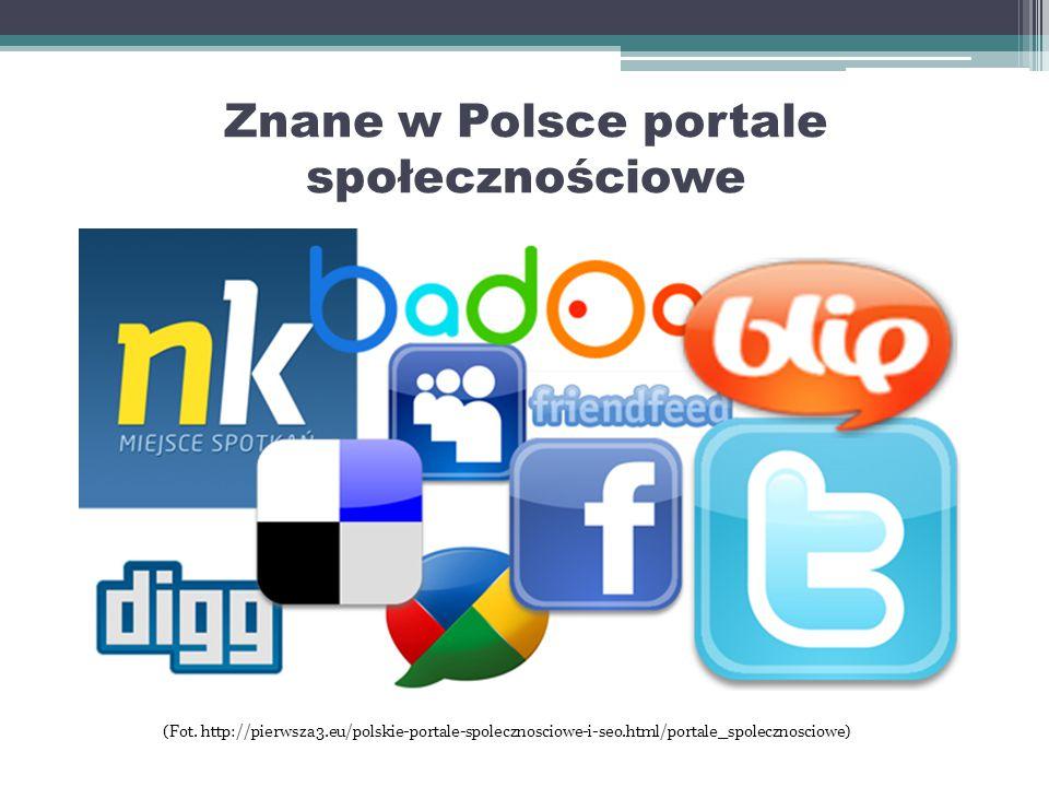 Portale Społecznościowe Portale społecznościowe to hit obecnych generacji młodzieży.