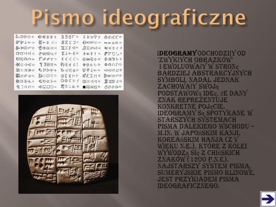 Jest to najwcze ś niejszy rodzaj pisma staro ż ytnego Egiptu.