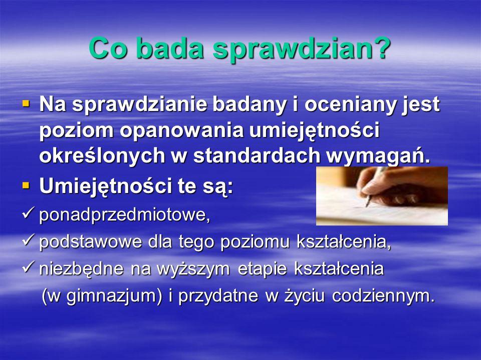 Przekazanie wyników i za ś wiadcze ń Wyniki ?.maja 2009 r.