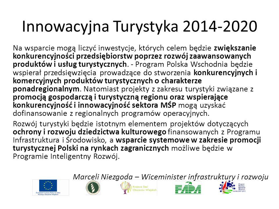 Innowacyjna Turystyka 2014-2020 Na wsparcie mogą liczyć inwestycje, których celem będzie zwiększanie konkurencyjności przedsiębiorstw poprzez rozwój z