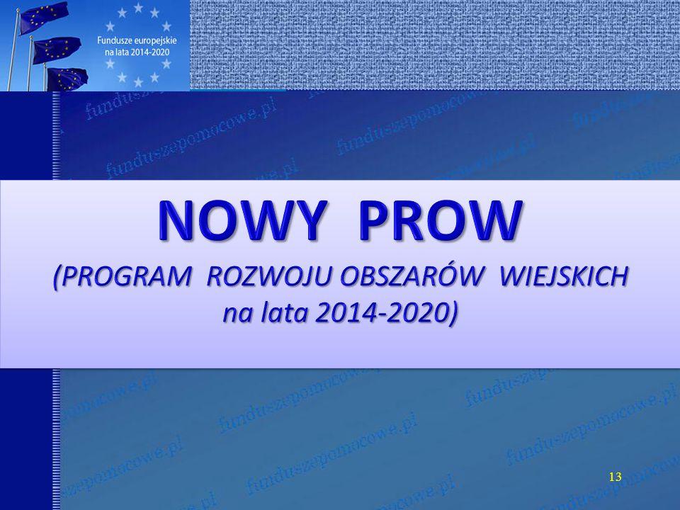 WSPÓLNA POLITYKA ROLNA WSPÓLNA POLITYKA ROLNA na lata 2014-2020 14.