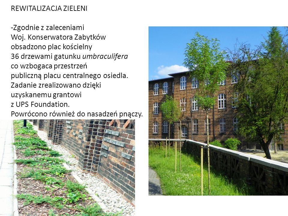 RENOWACJA MOZAIKI Z ELEMENTEM RÓŻ - Od 2010 roku czynimy starania o renowację mozaiki na budynku przy Placu Wyzwolenia.