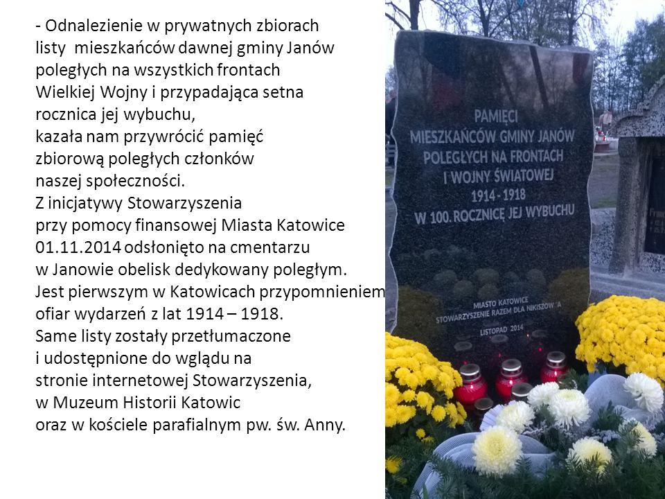 c) PROMOWANIE DZIEDZICTWA KULTUROWEGO REGIONU -Stowarzyszenie dwukrotnie wydało samodzielnie kalendarz ze zdjęciami Nikiszowca.