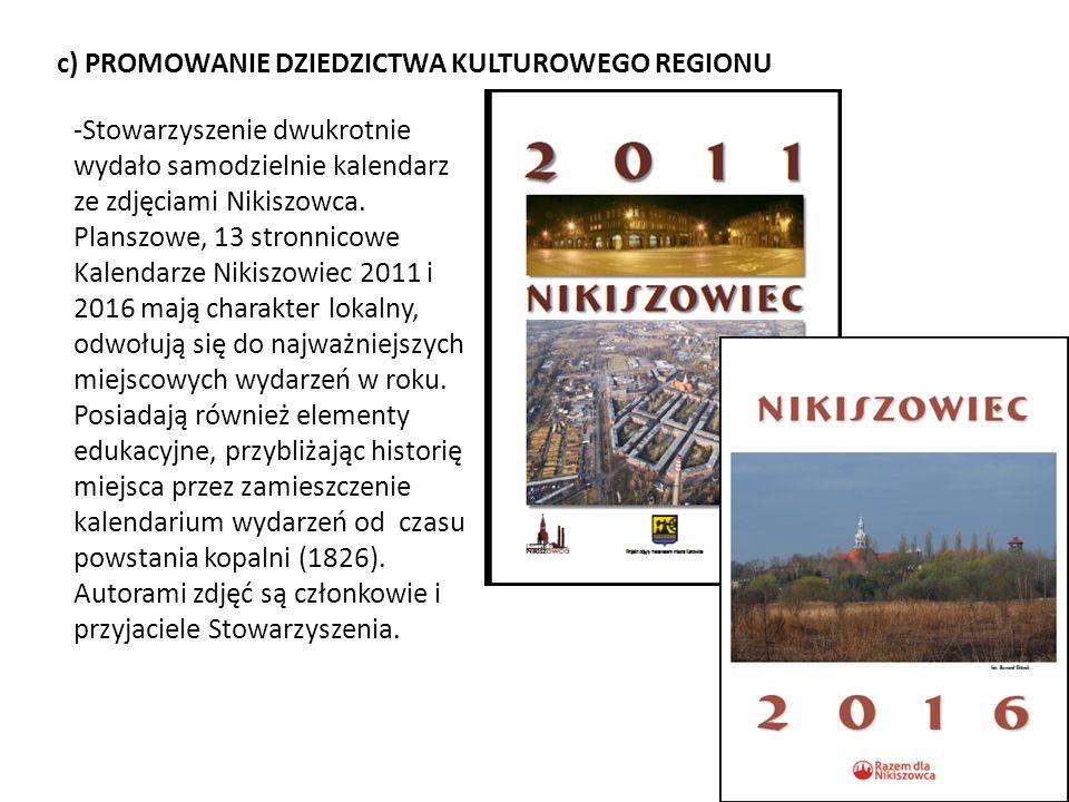 d) MECENAT NAD INICJATYWAMI - Stowarzyszenie sprawuje opiekę nad ekspozycją wagoników dawnej kolei wąskotorowej Balkan oraz kamieni granicznych pól górniczych.
