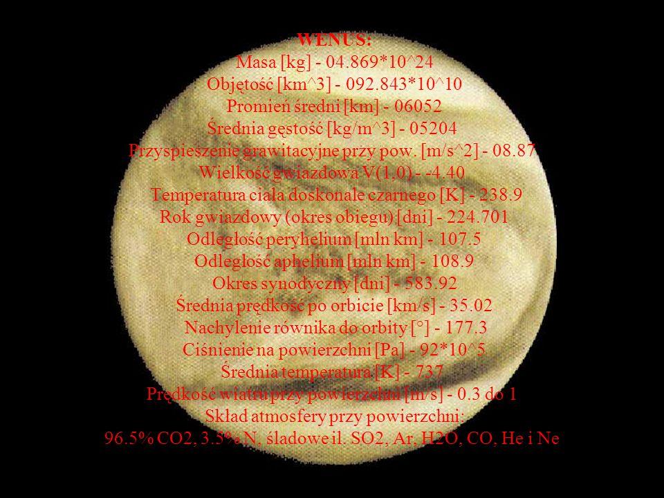 Wenus: Wenus jest drugą planetą licząc od Słońca.