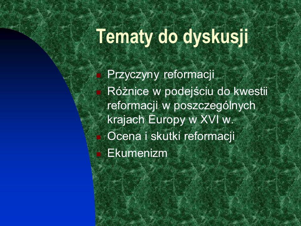 Wstęp Celem naszego spotkania jest ogólne poznanie przebiegu reformacji w XVI w. w Europie Nazywam się Bernadetta Osolinska