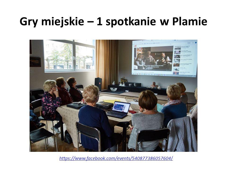 Gry miejskie – 1 spotkanie w Plamie https://www.facebook.com/events/540877386057604/