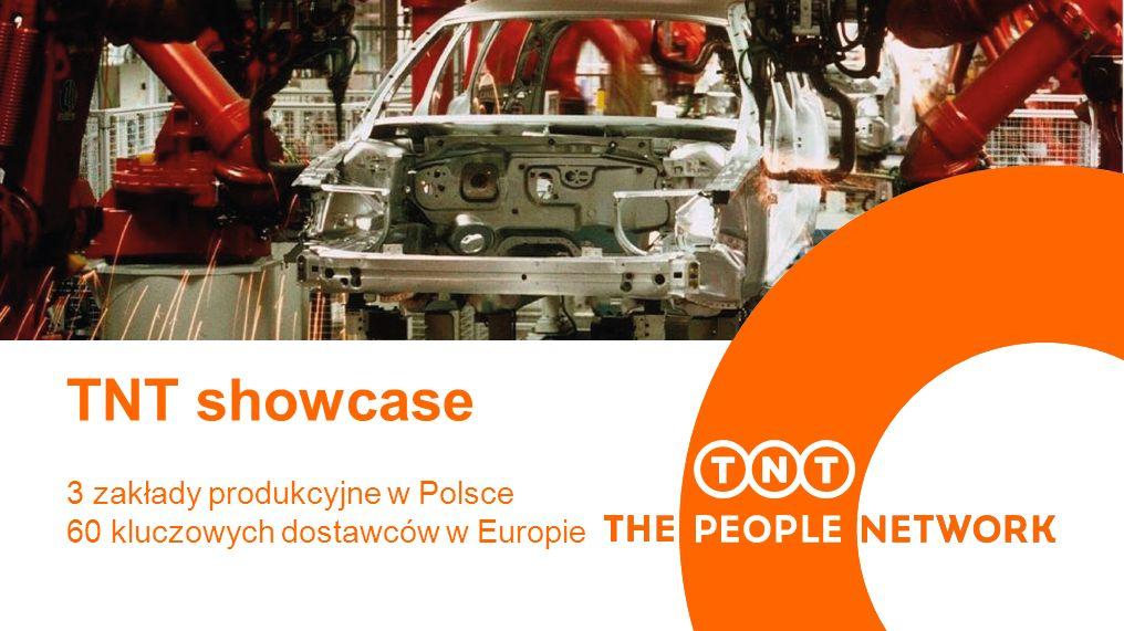 TNT showcase 3 zakłady produkcyjne w Polsce 60 kluczowych dostawców w Europie