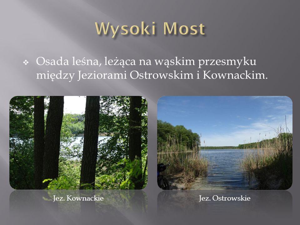  Osada leśna, leżąca na wąskim przesmyku między Jeziorami Ostrowskim i Kownackim. Jez. KownackieJez. Ostrowskie