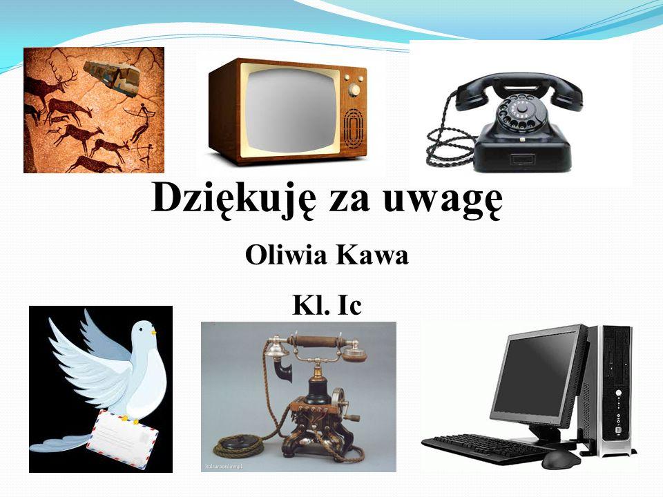 Bibliografia : http://histmag.org/Komunikacja-od-mowy-do-Internetu-744 http://www.komunikacja.biegun.eu/ http://www.womkat.edu.pl/files/standaryzacja/grupa43/Koziol_komunikacja_interpersonalna/rodzaje__komunikacji.html http://www.metarekrutacjaiselekcja.pl/szkolenia-efektywna-komunikacja-werbalna-w-biznesie-zespole/ http://www.metarekrutacjaiselekcja.pl/szkolenia-efektywna-komunikacja-werbalna-w-biznesie-zespole/ http://www.polonistka.republika.pl/komunikacja_interpersonalna.html http://www.robertbernhardt.com/church-internet.html http://chomikuj.pl/oladam/telewizja+i+radio http://stare-telewizory.republika.pl/katalog/wisla.html http://epstryk.pl http://klubkm.pl/forum/showthread.php?t=44062 http://marzycielskapoczta.pl/marzycielska-poczta-szczegolowy-opis-akcji/ http://www.kompi.pl/rola-komputera-w-zyciu-czlowieka http://www.pixmac.pl/zdjecie/it+komputer+z+książki/000076272893 http://www.wiadomosci24.pl/artykul/bylo_takie_radio_radio_luksemburg_93067.html http://slaby.blox.pl/tagi_b/2919/radio.html http://www.dolasu.pl/product_info.php?products_id=714 http://pl.wikipedia.org/wiki/Telegraf_bezprzewodowy