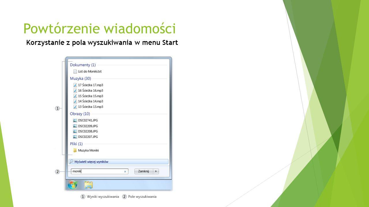 CZ. III ARKUSZ KALKULACYJNY EXCEL Powtórzenie wiadomości - obsługa interfejsu programu