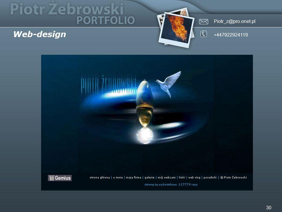 Piotr_z@pro.onet.pl +447922924119 30 Web-design
