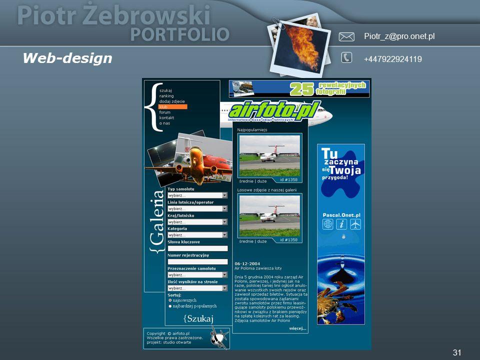 Piotr_z@pro.onet.pl +447922924119 31 Web-design