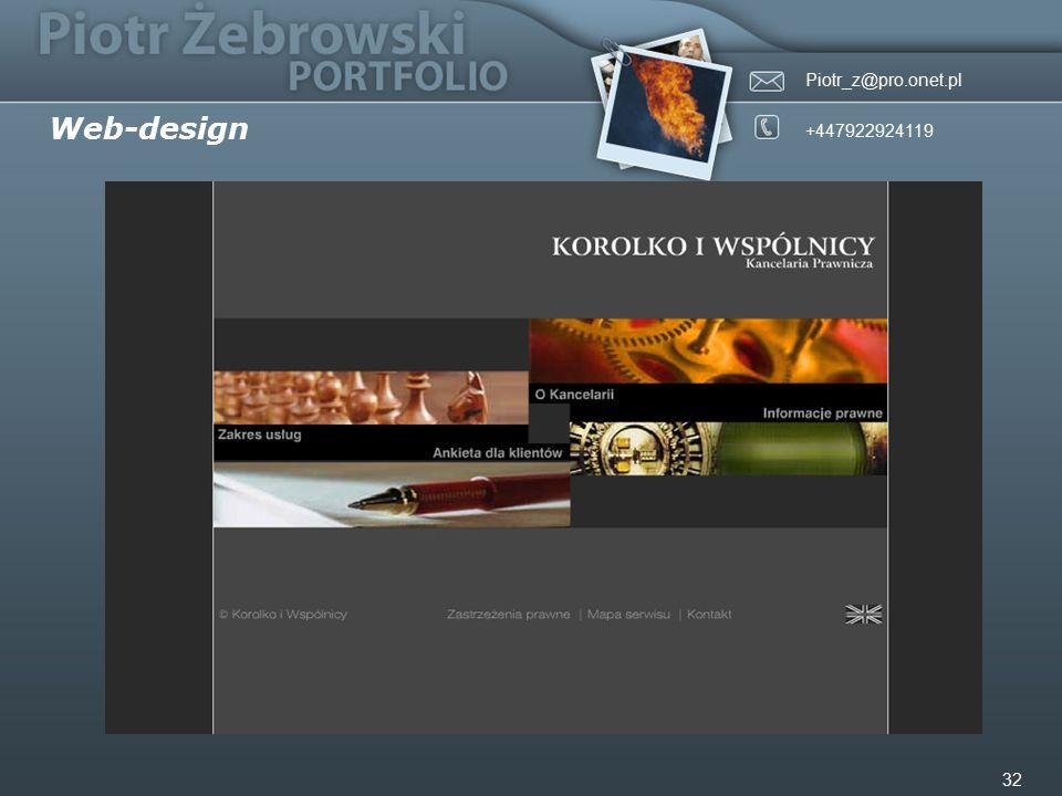 Piotr_z@pro.onet.pl +447922924119 32 Web-design