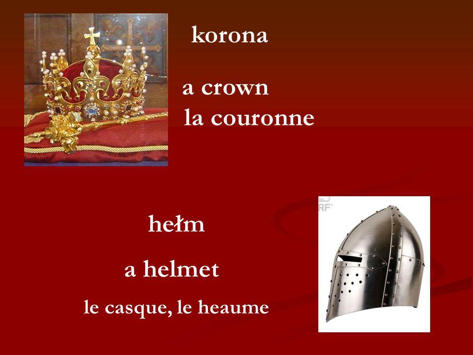 korona la couronne a crown a helmet hełm le casque, le heaume