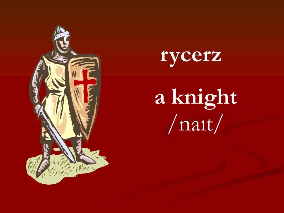 rycerz a knight /naıt/