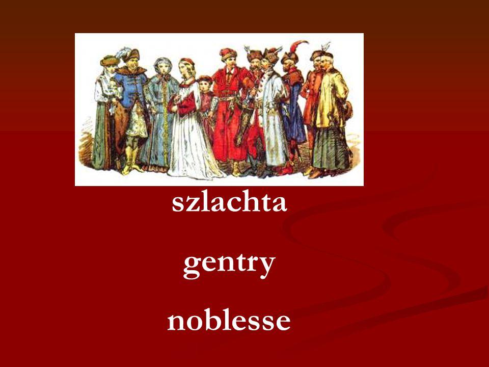szlachta gentry noblesse