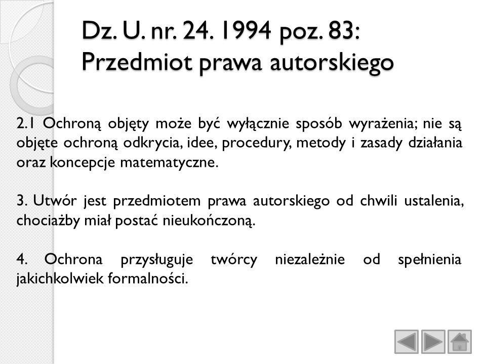 Dz.U. nr. 24. 1994 poz.