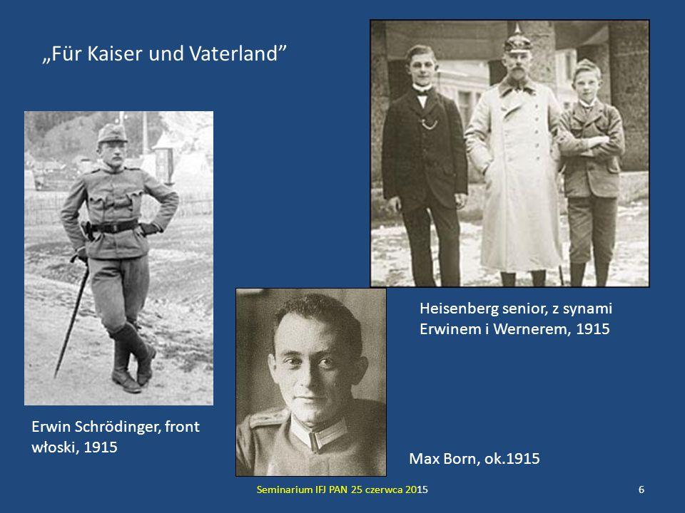 Helgoland Seminarium IFJ PAN 25 czerwca 201517 Po powrocie z Kopenhagi do Getyngi Heisenberg dostaje silnego ataku kataru siennego – Max Born, sam będąc alergikiem, rozumie sytuację i daje swemu podwładnemu 2 tygodnie urlopu.