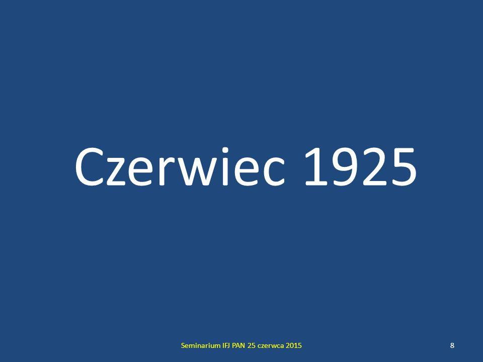Seminarium IFJ PAN 25 czerwca 20159 OSOBYOSOBY Werner Karl Heisenberg wiek 24 lata wysportowany blondyn o niebieskich oczach i ujmującym trybie bycia Privatdozent w Instytucie Fizyki Uniwersytetu w Getyndze, uprzednio, od jesieni 1923 asystent Maxa Borna, dyrektora Instytutu Urodzony w Würzburgu, potomek inteligenckiej bawarskiej rodziny, absolwent Maximiliansgymnasium w Monachium; w latach 1921-23 studia w Uniwersytecie Monachijskim pod kierunkiem Arnolda Sommerfelda, tamże doktorat (1923); habilitacja w Uniwersytecie w Getyndze (1924 ) pod kierunkiem Maxa Borna Jest prawie tak zdolny jak Pauli, ale znacznie milszy w obyciu.