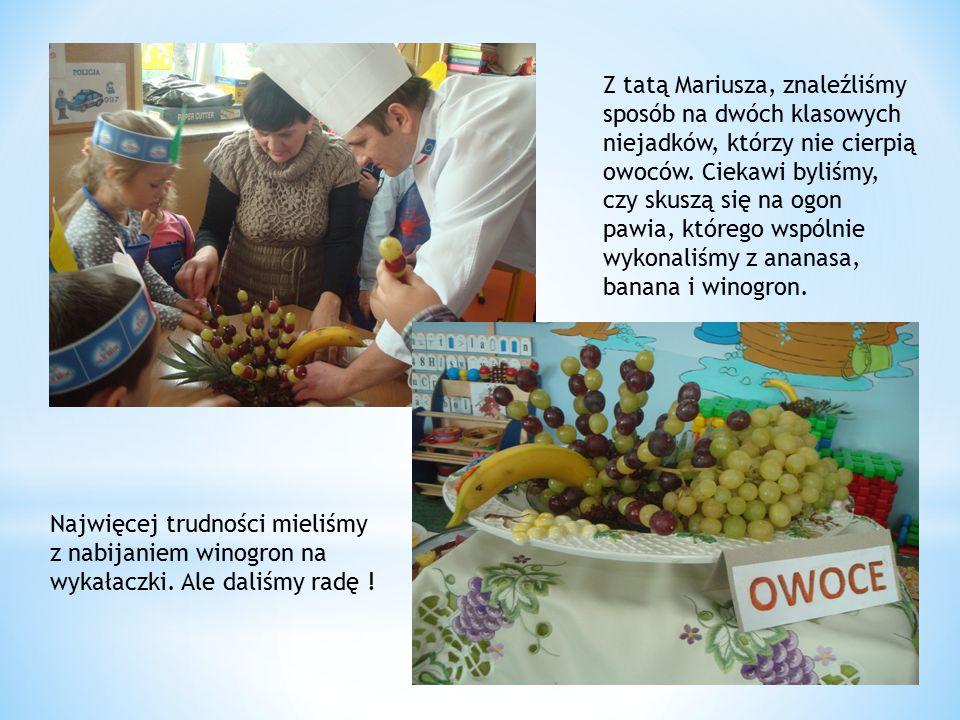Z tatą Mariusza, znaleźliśmy sposób na dwóch klasowych niejadków, którzy nie cierpią owoców.