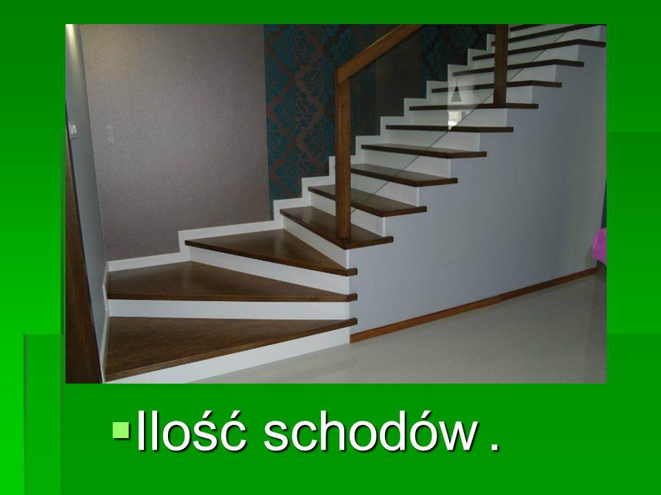  Ilość schodów.
