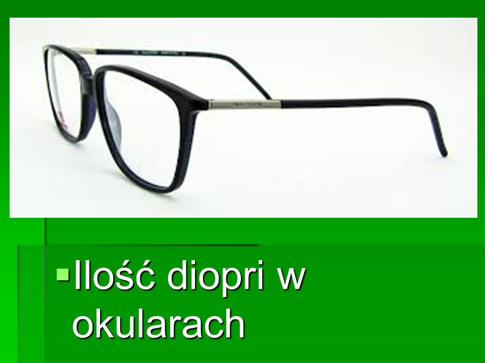  Ilość diopri w okularach