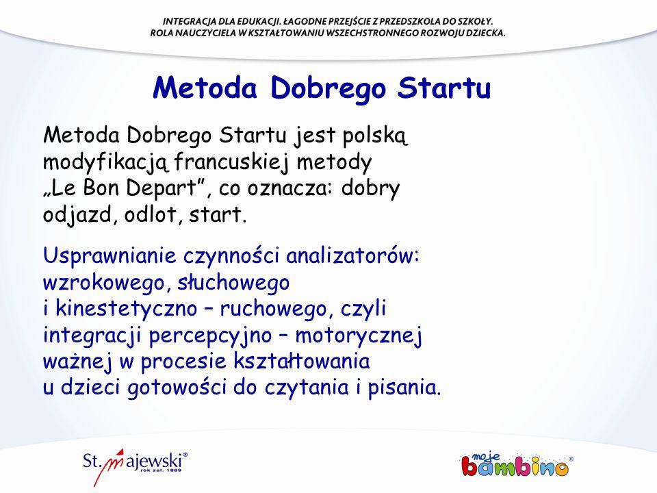 """Metoda Dobrego Startu Metoda Dobrego Startu jest polską modyfikacją francuskiej metody """"Le Bon Depart"""", co oznacza: dobry odjazd, odlot, start. Uspraw"""