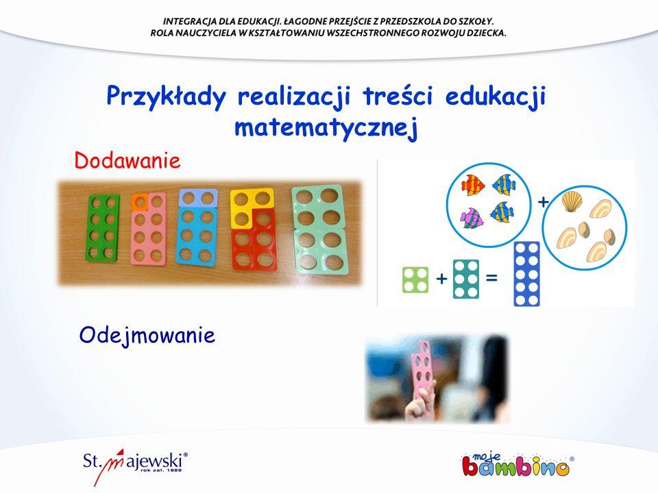 Przykłady realizacji treści edukacji matematycznej Dodawanie Odejmowanie